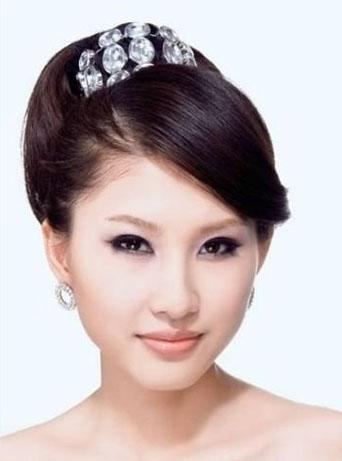 韩式新娘盘发造型图解图片